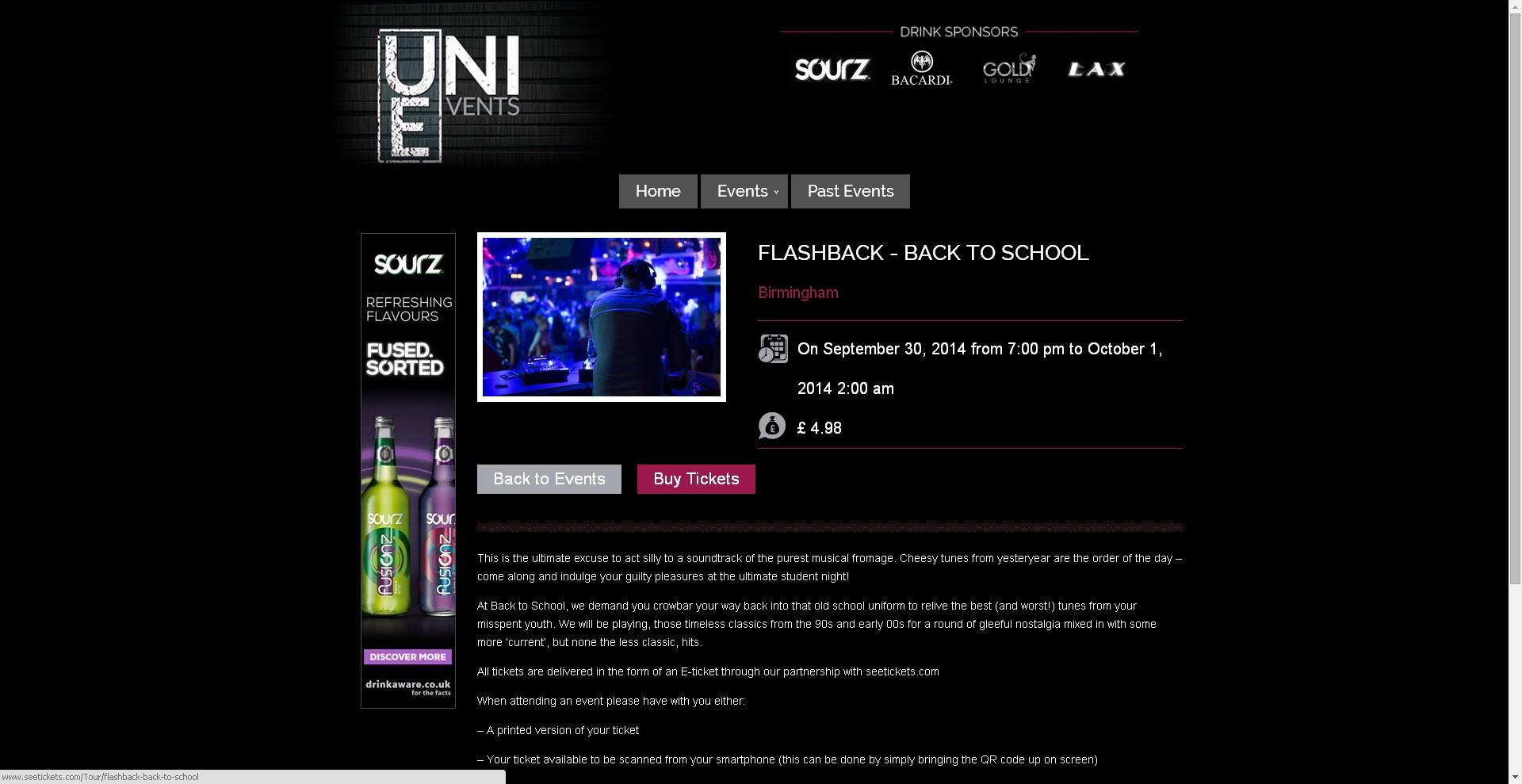 Events Websites