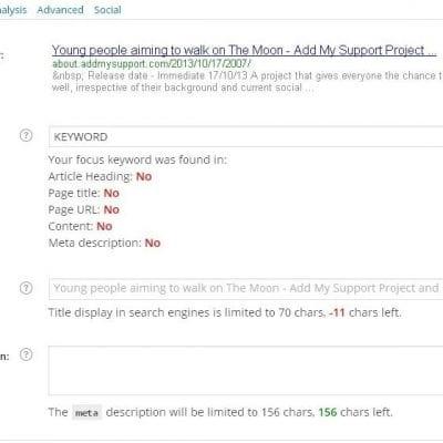 Wordpress SEO meta details