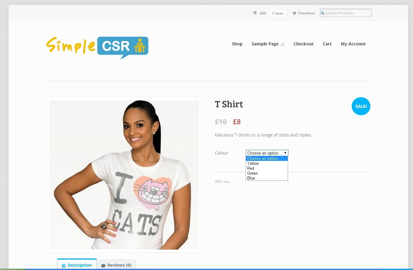 e-commerce product page showing item for sale online